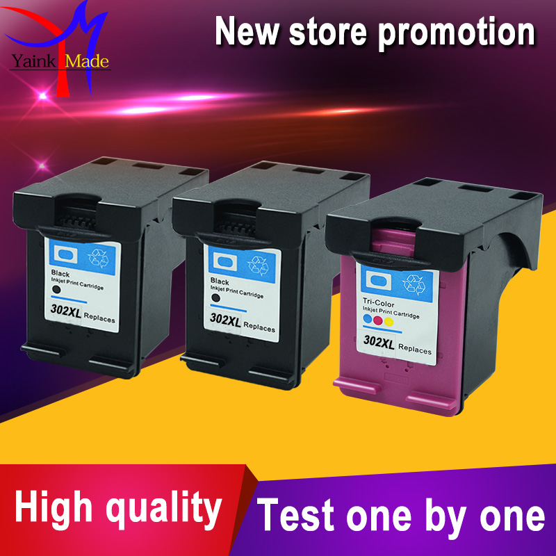 Promotion 2BK 1Tri colors for hp 302 Remanufactured Ink Cartridge for hp 302 XL Officejet 3830