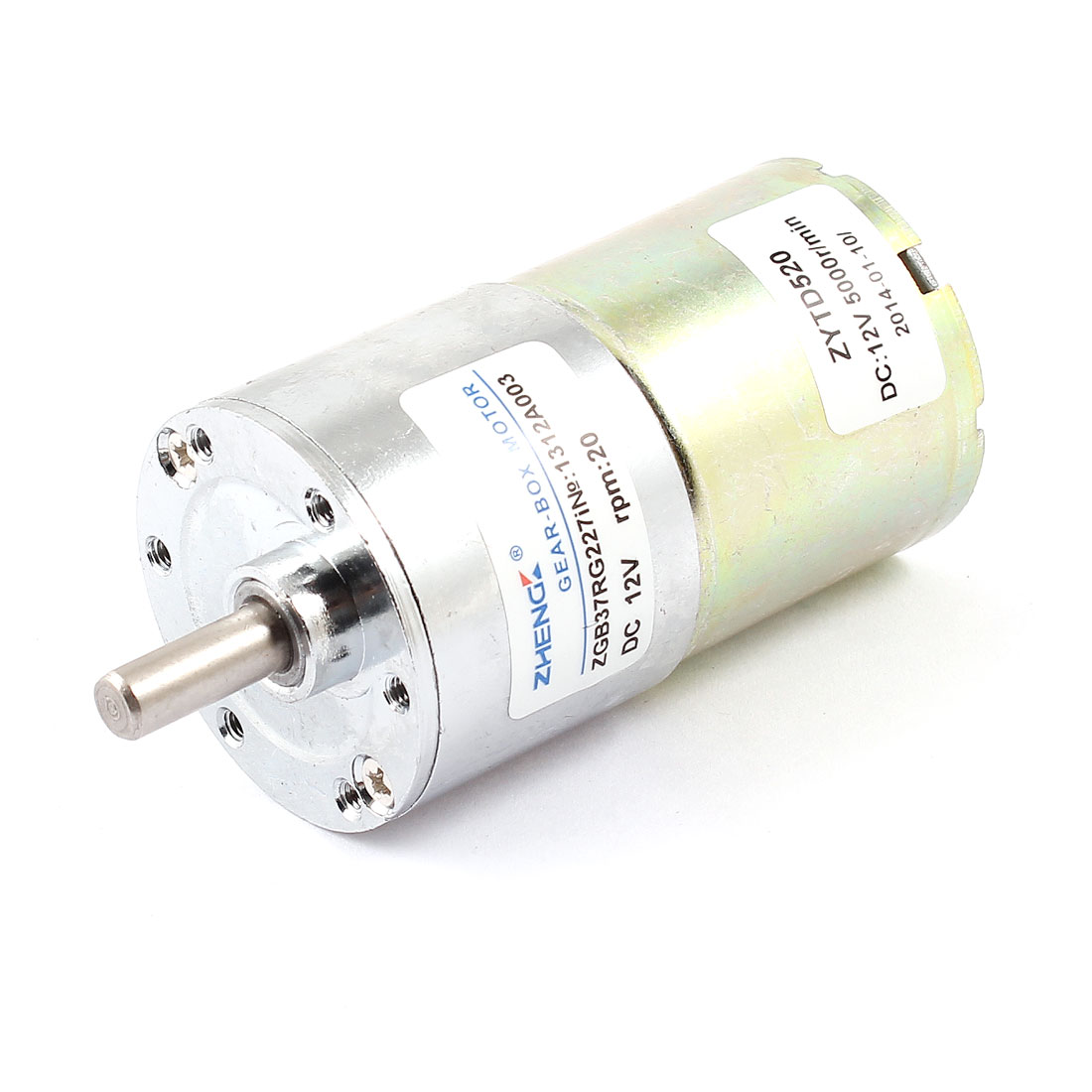 Shaft Diameter 6mm x 15mm DC 12V 20 RPM Speed 6mm Dia Shaft Magnetic Gearbox Electric Geared Motor 37mm x 86mm цена