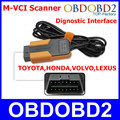 Newest 3 IN 1 MVCI Diagnostic Interface For TIS / HDS / Volvo Dice / LEXUS Auto Reprogramming M-VCI Scanner M-VCI2 Auto Car Tool