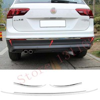 STYO Stainless steel rear bumper cover trim For VW Tiguan 2017 2018 allspace America version