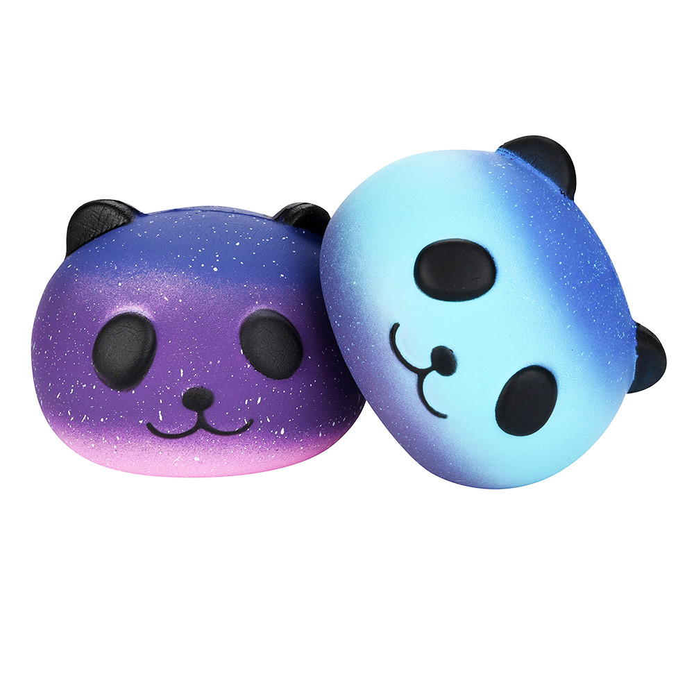 Antistress Elastic Environmentally PU Cat Antistress Stress Reliever Fun 2PCS Galaxy Panda Slow Rising Scented Fun Animal Toys