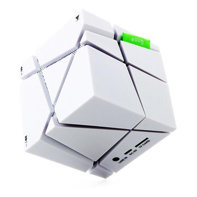 Компания LED творческий Портативный <font><b>Cube</b></font> Типа <font><b>Bluetooth</b></font> Динамик белый