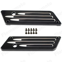UNDEFINED Black Cut CNC Billet Hard Saddlebag Latch Cover For Harley Touring FLHT FLHR 1993 1994 1995 1996 1997 1998 2013