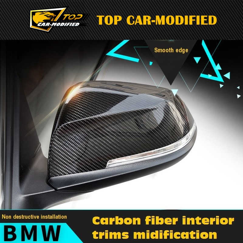Free shipping Car carbon fiber wing mirror cover/ rearview mirror caps for BMW 1 Series E82 E87 120i 135i 2013 up