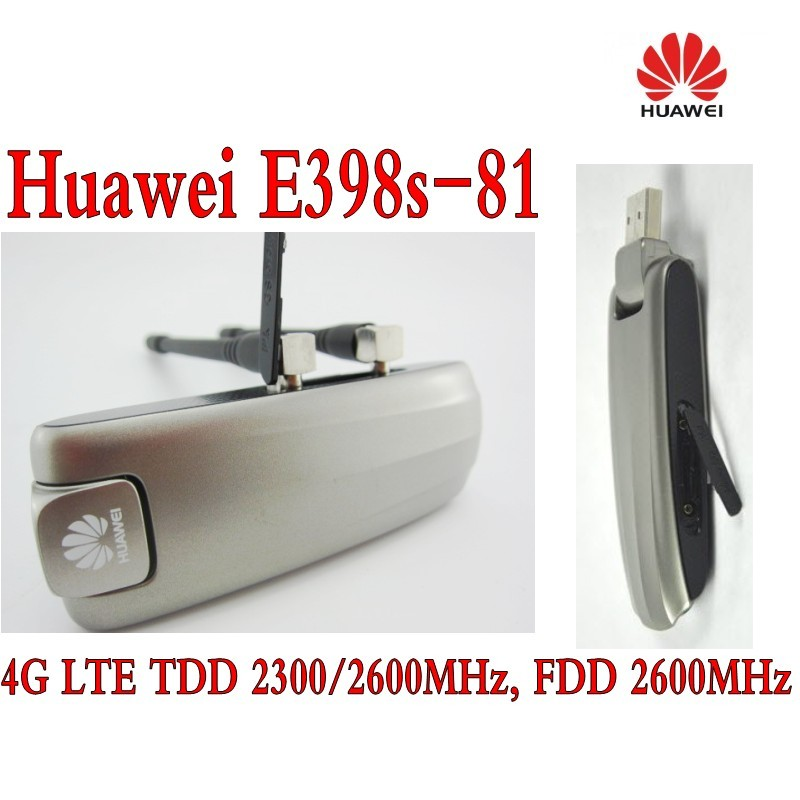 Huawei E398 LTE 4G Modem E398s-81 plus 4g antenna new huawei e398 4g lte speed surf stick modem dongle 100mbps e398u 1 4g 49dbi ts9 antenna