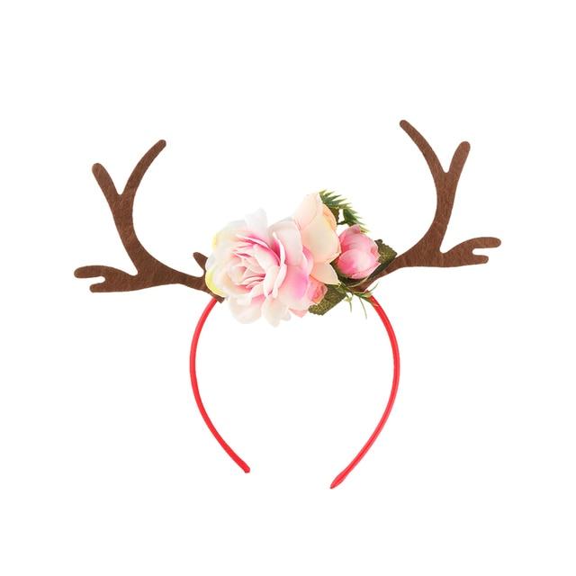 1PC Christmas Elk Hairband Halloween Party Headband Cute Animal Ear Headbands Hair Band Accessories Xmas Gift