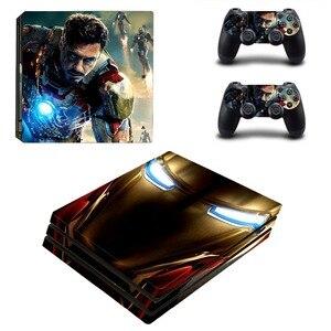 Image 3 - Наклейка на кожу Marvel Iron Man, наклейка на кожу для консоли PlayStation 4 и 2 контроллера PS4 Pro, Виниловая наклейка на кожу