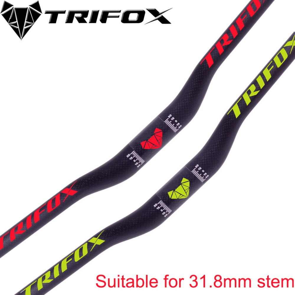 1xCarbon Fiber 3K MTB Mountain Bike Handlebar Road Bicycle flat//Riser Bar 31.8mm