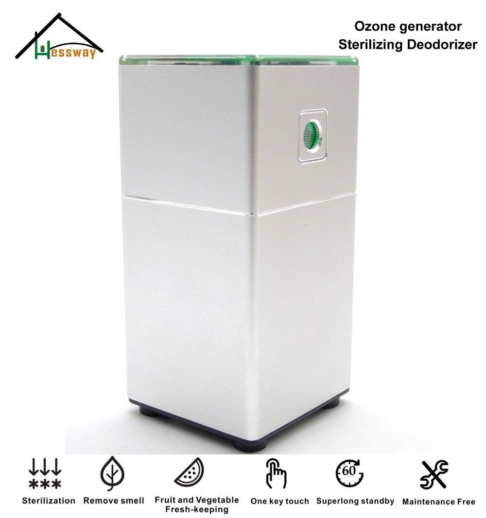 Aluminum Portable Ozone Generator Sterilizer Air Purifier Sterilizing Deodorizer With Sustainable Power Supply