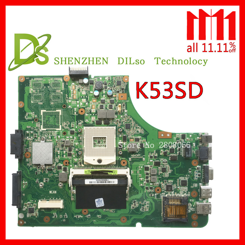 KEFU K53SD motherboard For Asus K53SD K53E laptop motherboard REV 2.1/2.3 laptop motherboard GM Test work 100% k53sd rev 2 3 k53e motherboard for asus laptop 100