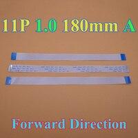 1 100pcs 11 pin Flat Switch Ribbon Flex Cable Power Button 11pin 1.0mm 18cm 180MM forward direction 11P Ribbon Flex Cable Connectors     -