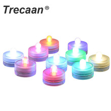 10PCS Mini Submersible LED Lights IP68 Waterproof Tea Light  Underwate