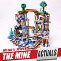 Лепин 18011 Новый 922 Шт. brinquedos шахты блок кирпич Пикселей блоки Кирпич Детей Игрушки mc Блоки 21118