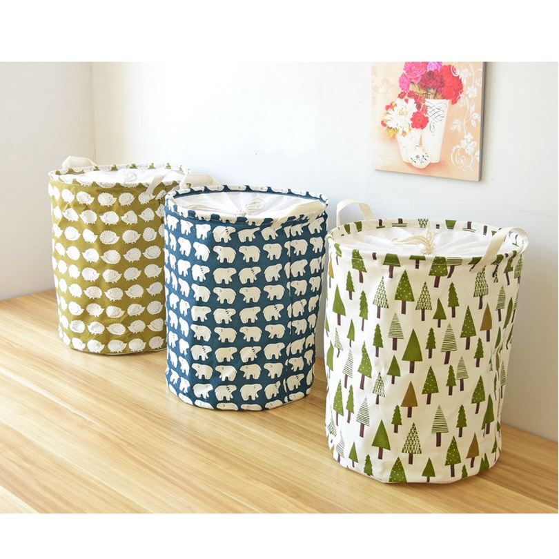 Baby Toys Basket Folding Laundry Basket Washing Clothes Basket 35