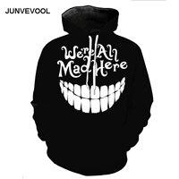 Black Style Brand Hoodies Women Men Hip Hop Harajuku Sweatshirt New Fashion 3d Sweatshirts Funny Smile