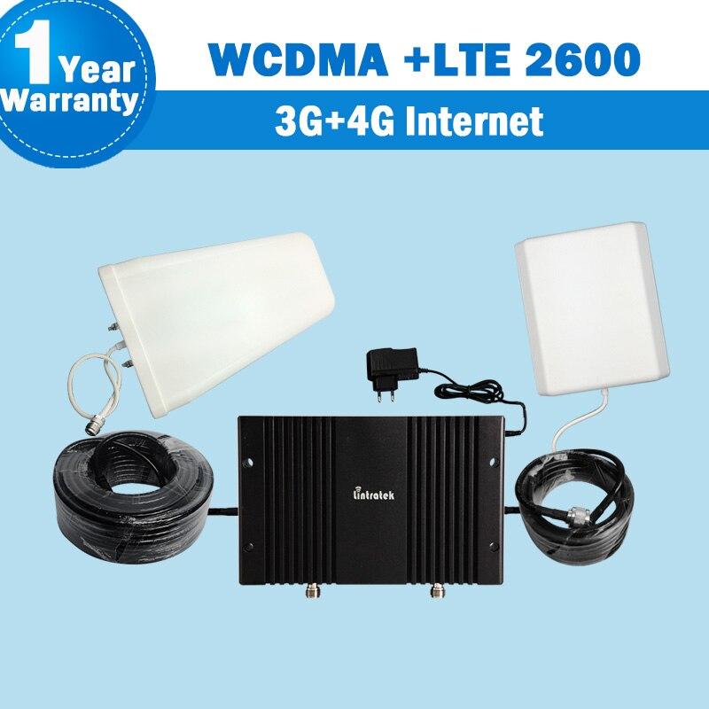 Lintratek WCDMA 2100 4G LTE 2600 70dB fonction MGC/AGC amplificateur De Signal Mobile répétiteur d'amplificateur cellulaire répéteur d'antena S19