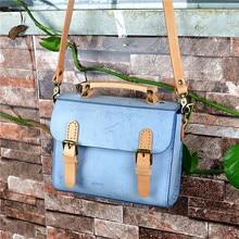 1892c0c5ffbd2 Japan Handgemachte Stil Natürliche Rindsleder Farbe-mischen Mädchen Kleinen Schulranzen  Frau Handtasche Aus Echtem Leder