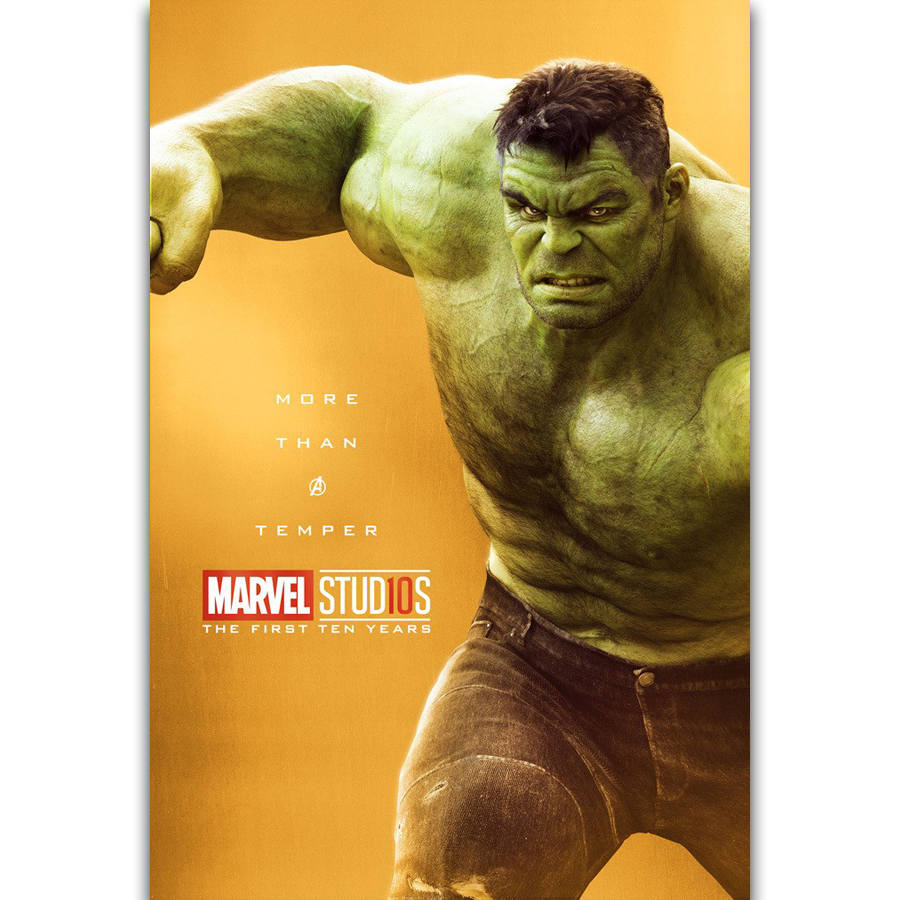 S1502 The Marvel Studios The First Ten Years Superhero Hulk Wall Art ...