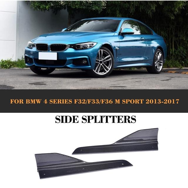 4 series carbon fiber side skirts splitters for bmw f32 f33 m sport
