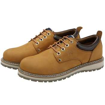 CAMEL Genuine Leather Men Shoes England Trend Male Footwear Men\'s Casual Outdoors Short Boots Man Work Shoes Large Size 47