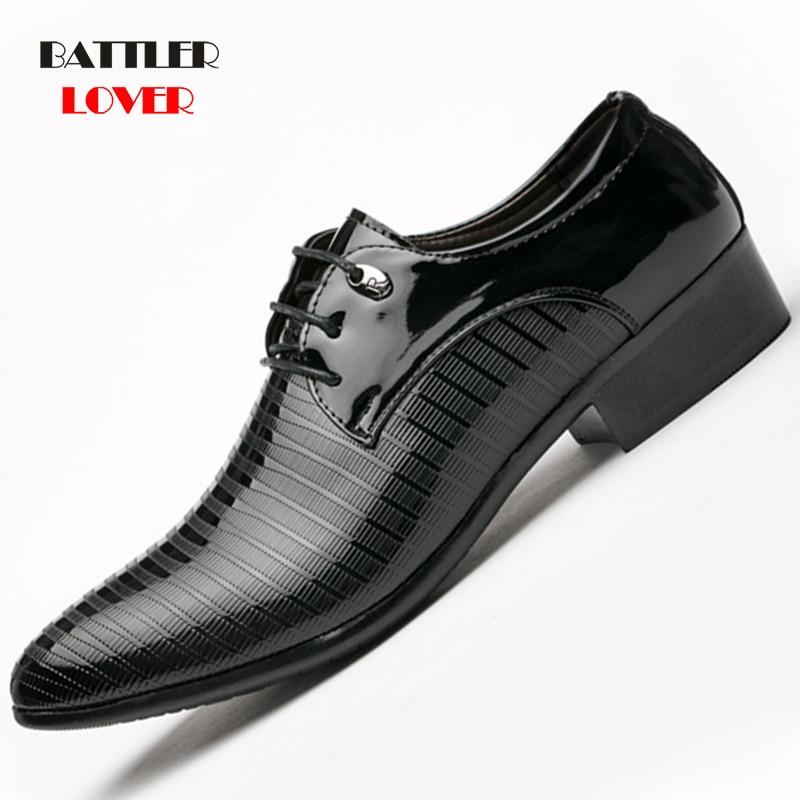 Formal Shoes Men Pointed Toe Mens Dress Shoes Leather Men
