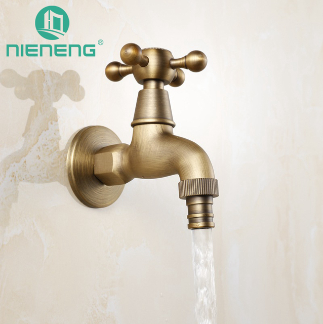 garden faucet. Nieneng Washing Machine Antique Brass Tap Faucet Garden Bibcock Small Outdoor For Accessories R