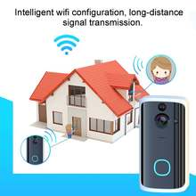 Smart WiFi Video Doorbell Camera 2Way Wireless Doorbell Intercom APP Phone Record Picture Video Home Security ding-dong Receiver