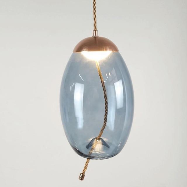 Modern Knot Glass Pendant Light