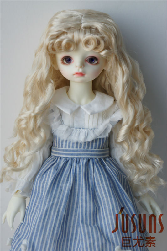 JD276 23-25CM BJD synthetic mohair wigs Blyth Princess Long Curly doll hair 9-10inch doll wig American girl doll wigs supra phs 2004