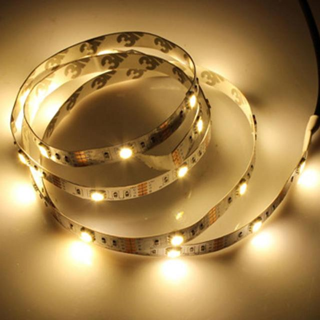 1M USB Power Supply LED Strip Tape DIY TV Background Lighting Decorative Lamp Outdoor Camping Lights
