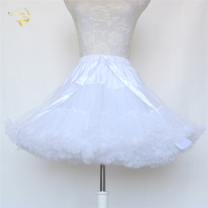 Image 2 - Đen Thời Trang Bầu Tây Nam Không Xoay Đầm Ngắn Petticoat Lolita Petticoat Ba Lê Váy Tutu Rockabilly Crinoline Không Xương
