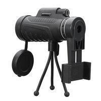 ユニバーサル40 × 60 hdズームレンズ二つのタイプ防水単眼望遠鏡レンズ+三脚+クリップのためのiphoneアンドロイド携帯電話