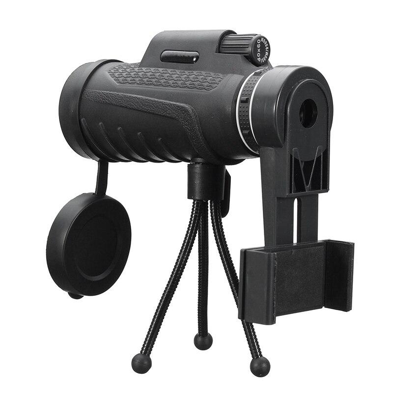 Universal 40X60 HD Zoom lente dos tipos impermeable Monocular telescopio lente + trípode + Clip para iPhone Android teléfonos móviles