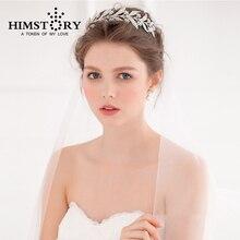 Rhinestone Branches Flower Wedding Tiara Crown Silver Bridal Hair Accessories Hair Jewelry