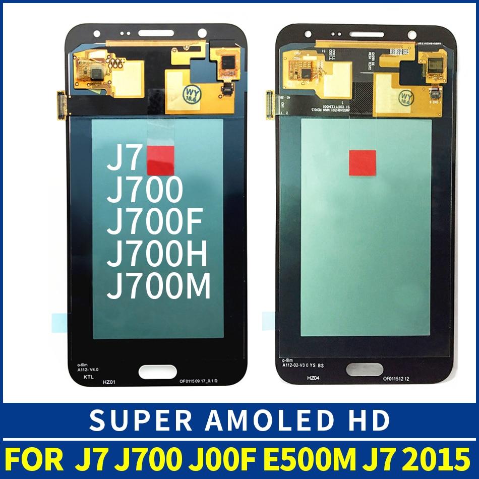 YDIN OEM Super AMOLED pour Samsung Galaxy J7 2015 J700 J700H J700M LCD écran tactile numériseur assemblée J700F écran LCD