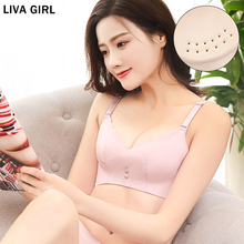LIVA GIRL Women Bra Hole Ultra-Thin Cup Comfortable Breathable Wire Free No Trace Underwear Ladies 3/4 Wholesale