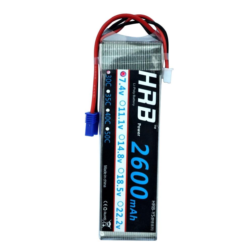 HRB Lipo Battery 7 4V 2600mah 30C Lipo Battery Akku Bateria For RC Hubsan H501S 4