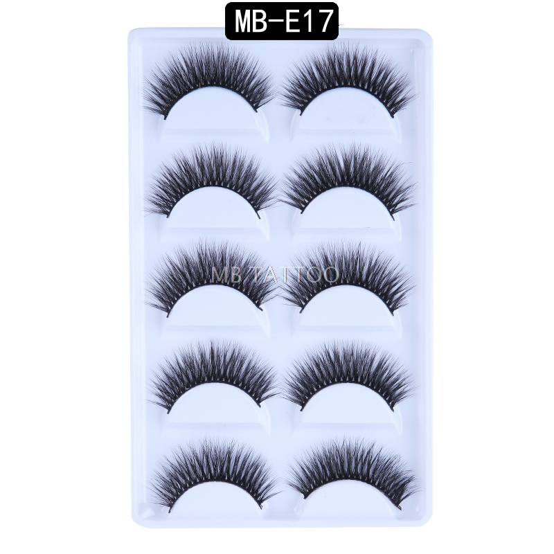 HTB1gD3TQ3HqK1RjSZFEq6AGMXXa1 New 3D 5 Pairs Mink Eyelashes extension make up natural Long false eyelashes fake eye Lashes mink Makeup wholesale Lashes