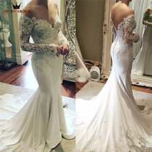 QUEEN BRIDAL Custom Made Sexy Wedding Dress Floor Length