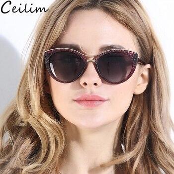Модные женские солнцезащитные очкив ретро стиле с кошачьим глазом, поляризованные солнцезащитные очки в черной оправе для женщин, для вожд... >> Shop419624 Store