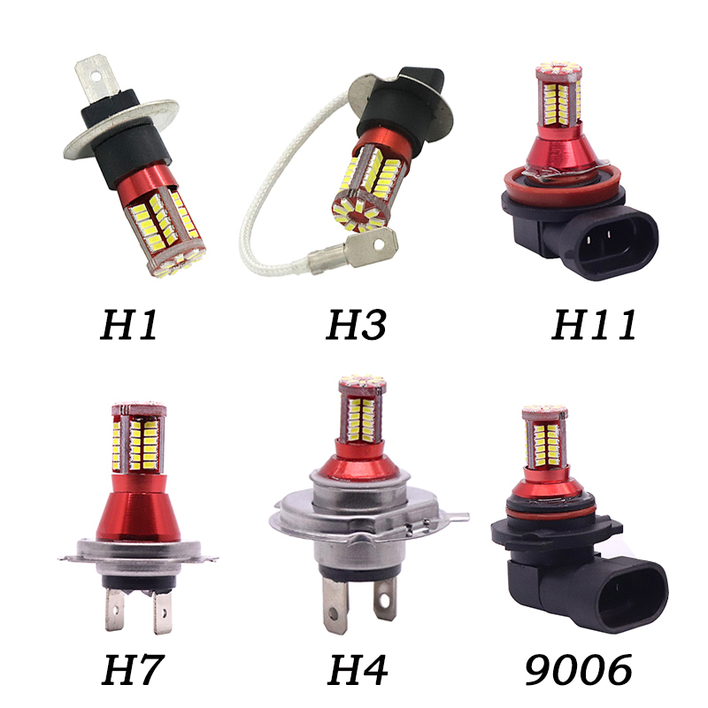 1Pc H1 H3 H4 H7 H11 9006 3014 57 LED 6000K Car Projector Fog Driving Light Bulb White Car Light Source Auto car led bulbs DC 12V hfw01 h7 750lm 80w 16 led 6000k white light car fog lamps dc 12 24v 2 pcs