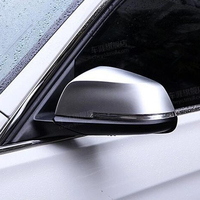 1 Pair Of Matte Chrome Rearview Mirror Shell Protection Cap Cover For BMW 1 2 3
