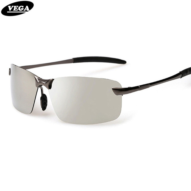 9fcef521ebc VEGA High Quality Colored Mirror Frameless Sunglasses Polarized Military  Grade Glasses Aluminum Magnesium Alloy Frame 3043