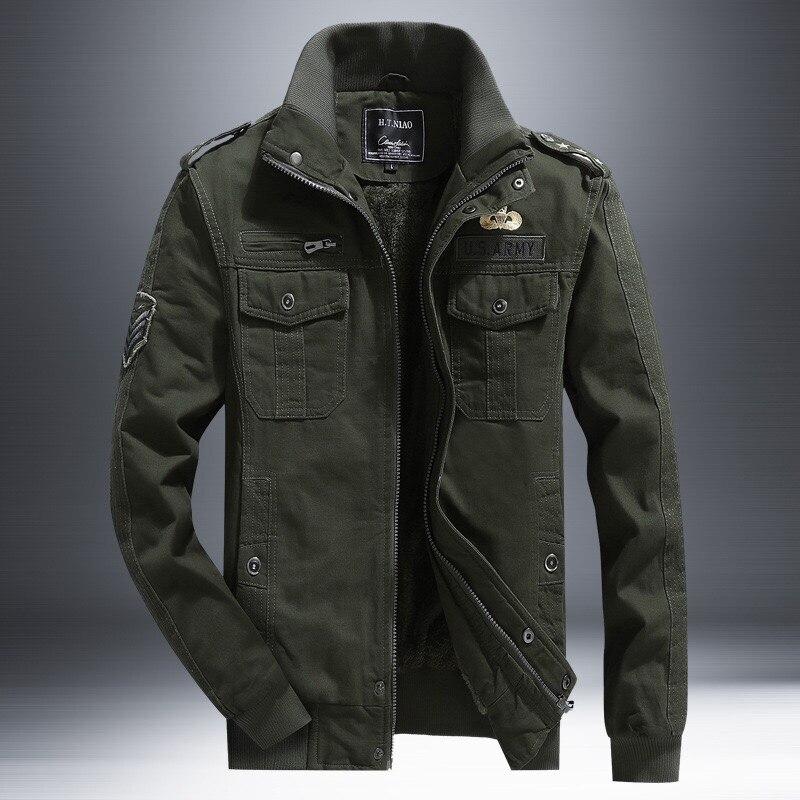 Army Black Khaki Men's Tactical Clothing Plus Size Bomber Jacket Male Military Jacket