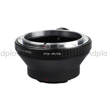 лучшая цена Lens adapter work for Canon FD Lens to Pentax Q Mount Adapter Ring With Tripod Mount