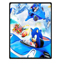 New Custom sonic the hedgehog Throws Blanket Fleece Fabric Baby Bed Sheet Bedspread Summer Air Conditioning Blanket