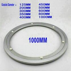 HQ H10 снаружи Диаметр 1000 мм (40 дюймов) тихий и гладкий Твердый алюминиевый вращающийся поднос для кушаний вращающаяся подста