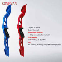 18lbs 26lbs 30lbs 63 Inch Hunting Bow Recurve Bow Red/Blue Archery with Sight and Arrow Rest for Outdoor Hunting
