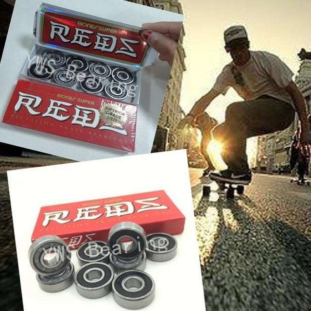 7832c754c6f8c 8pcs set Super red bones original Bones Super Reds 608 rs skate scooter  spare parts for roller skates