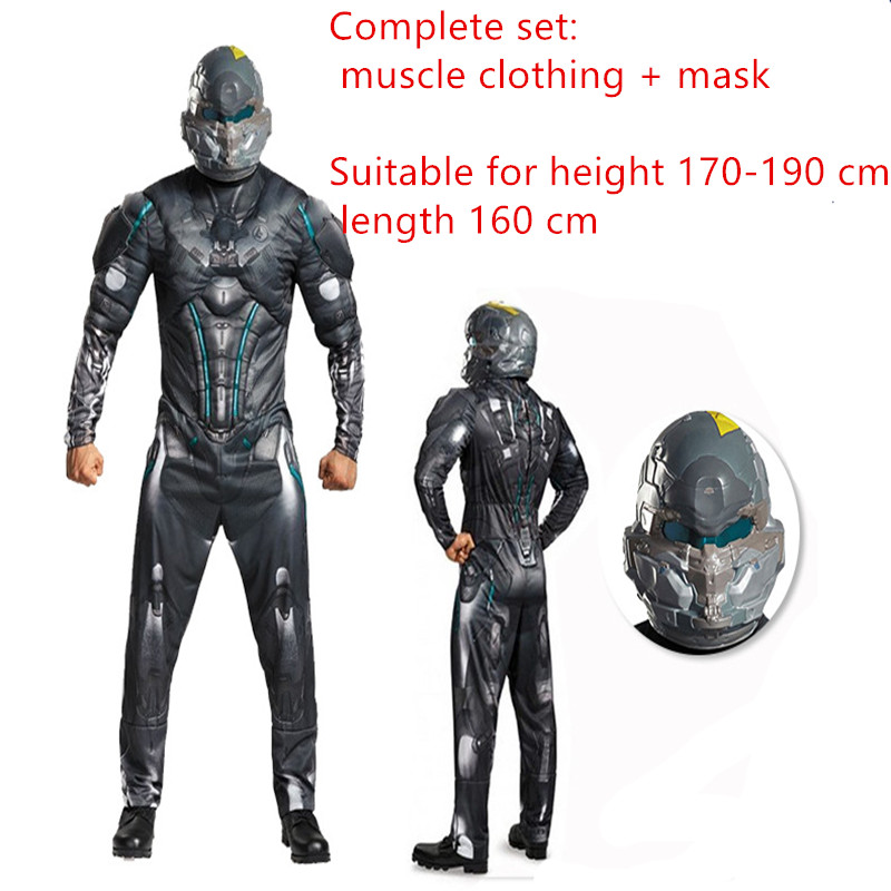 New Fashion Adult Halo Spartan Locke Costumes Cosplay Clothing From Halo 5 Guardians Halloween Carnival Party Fancy Costume For Role-playing Novelty & Special Use